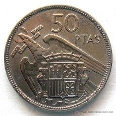 Monedas Franco: MONEDAS DEL MUNDO . ESPAÑA . ESTADO ESPAÑOL . 50 PESETAS 1957 -BA- CON ERROR. Lote 51422426