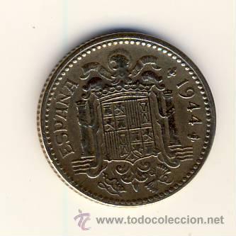 Monedas Franco: 1 PESETA FRANCO.- 1944.- (5) - Foto 2 - 51424470
