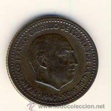 Monedas Franco: 1 PESETA DE FRANCO.- 1947 *49.- MBC++ (4). Lote 51457852