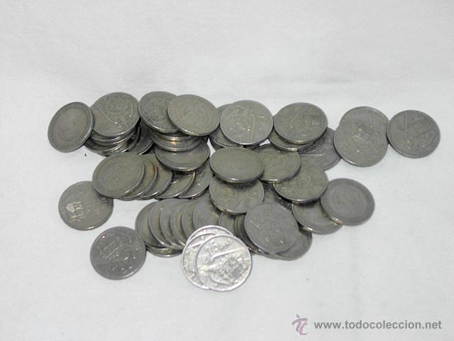LOTE 56 MONEDAS 25 PESETA DE FRANCO – 1957- *70 (Numismática - España Modernas y Contemporáneas - Estado Español)