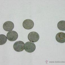 LOTE 9 MONEDAS 25 PESETA DE FRANCO – 1957- *58 - 59