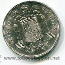 Monedas Franco: CINCO (5) PESETAS MODULO GRANDE ESTADO ESPAÑOL 1949 *50 - Foto 2 - 52313245