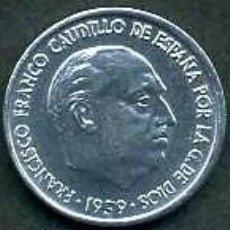 Monedas Franco: ESPAÑA 10 CENTIMOS AÑO 1959 ( DICTADOR FRANCISCO FRANCO - MONEDA DEL FRANQUISMO ) Nº2. Lote 76649994