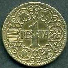 Monedas Franco: ESPAÑA 1 PESETAS AÑO 1944 ( MONEDA DEL FRANQUISMO ) Nº7. Lote 52444636