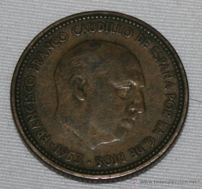 FRANCO - 2,50 PESETAS 1953 54 - MONEDA (Numismática - España Modernas y Contemporáneas - Estado Español)