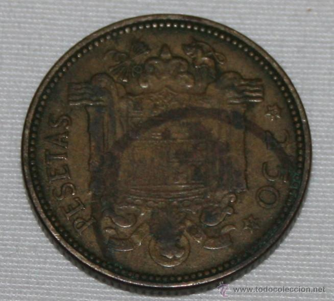 Monedas Franco: FRANCO - 2,50 PESETAS 1953 54 - MONEDA - Foto 2 - 52624859