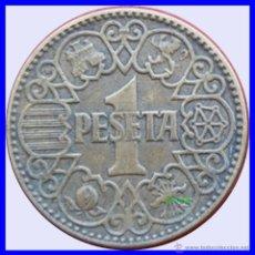 Monedas Franco: ESPAÑA MONEDA DE 1 PESETA FRANQUISMO AÑO 1944 BUENA CONSERVACIÓN. Lote 113709611
