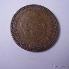 Monedas Franco: 1 PESETA,FRANCO 1963 *66. Lote 53314053