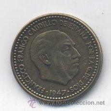 Monedas Franco: ESTADO ESPAÑOL- 1 PESETA-1947 ESTRELLA 19-53-SC-. Lote 53535365