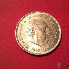 Monedas Franco: MONEDA FRANCO AÑO 1949 5 PESETAS. Lote 53535900
