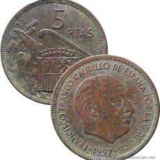 Monedas Franco: 5 PESETAS, 1957*67*. Lote 53638101