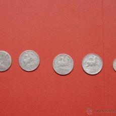Monedas Franco: LOTE 5 MONEDAS: 10 CÉNTIMOS (1940, 1941, 1945, 1953 Y 1959) FRANCO ¡COLECCIONISTA!. Lote 205685955