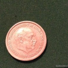 Monedas Franco: MONEDA 25 PESETAS FRANCO 1957. Lote 53964466