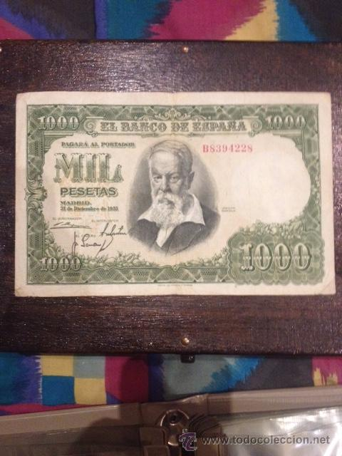BILLETE 1000 PESETAS ESPAÑA 1951 (Numismática - España Modernas y Contemporáneas - Estado Español)