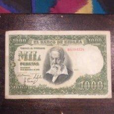 Monedas Franco: BILLETE 1000 PESETAS ESPAÑA 1951. Lote 54064883