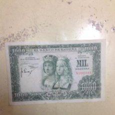 Monedas Franco: BILLETE MIL PESETAS ESPAÑA 1957. Lote 131860551