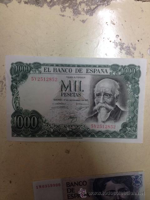 BILLETE ESPAÑA 1000 PESETAS 1971 (Numismática - España Modernas y Contemporáneas - Estado Español)