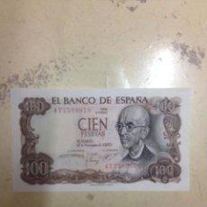 Monedas Franco: BILLETE 100 PESETAS ESPAÑA 1970 MANUEL DE FALLA. Lote 54142490