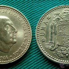 Monedas Franco: FRANCO 1 PESETA 1966 ESTRELLA 19-67; 1967. Lote 54399682