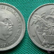 Monedas Franco: ESTADO ESPAÑOL, 25 PESETAS, 1957 - ESTRELLA 69. Lote 54454082