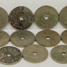 Monedas Franco: MO-201 - COLECCIÓN DE 21 MONEDAS EN NIQUEL DE 25 CÉNTIMOS.(VER DESCRIP). 1927-1937.. Lote 51402231