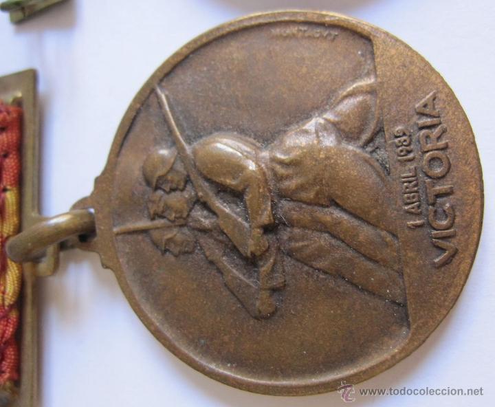 Monedas Franco: 3 Medallas Alzamiento Victoria. España. Ejército Nacional. 1936-1939. Guerra Civil Española. 3,20 CM - Foto 6 - 54846932