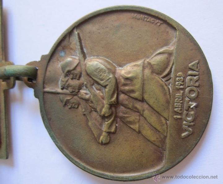 Monedas Franco: 3 Medallas Alzamiento Victoria. España. Ejército Nacional. 1936-1939. Guerra Civil Española. 3,20 CM - Foto 8 - 54846932