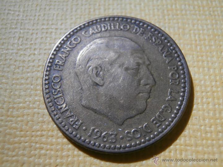 Monedas Franco: Error de Acuñación - Reverso girado +- 225º - España - Estado Español - 1 Peseta 1963 - Foto 2 - 55001381