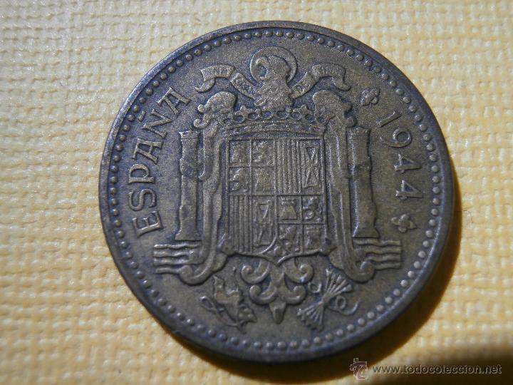 Monedas Franco: MONEDA - ESPAÑA - ESTADO ESPAÑOL - 1 PESETA - 1944 - MBC + - Foto 2 - 55018139