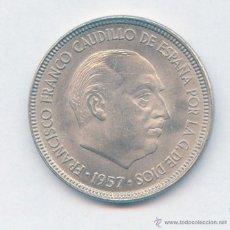 Monedas Franco: BELLISIMA 5 PESETAS FRANCISCO FRANCO AÑO 1957*63 RARISIMA. Lote 55086905