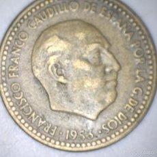 Monedas Franco: MONEDA 1 PESETA 1953 61* FRANCO CIRCULADA USADA. Lote 55150168