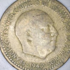Monedas Franco: MONEDA 1 PESETA 1947 FRANCO CIRCULADA USADA. Lote 55150607