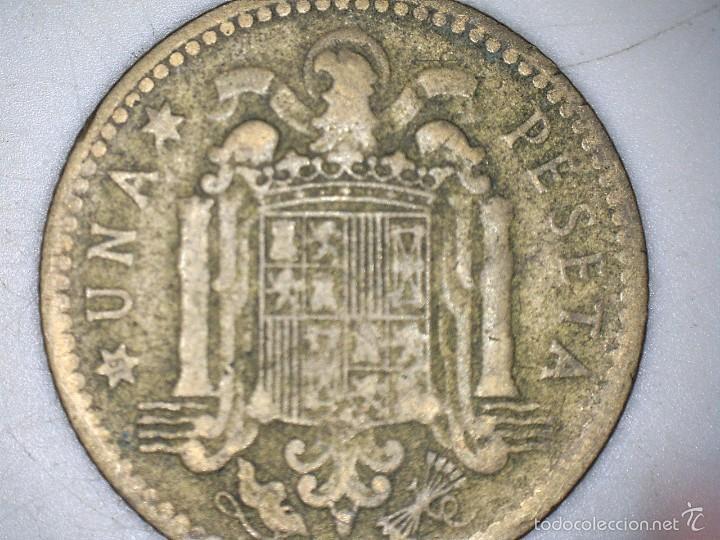 Monedas Franco: MONEDA 1 PESETA 1947 FRANCO CIRCULADA USADA - Foto 2 - 55150607