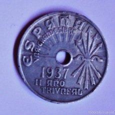 Monedas Franco: MONEDA 25 CENTIMOS 1937. Lote 55859717