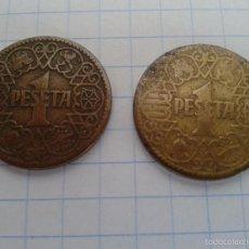 Monedas Franco: LOTE DE 2 MONEDAS DE 1 PESETA... 1944. Lote 55905358