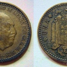Monedas Franco: FRANCO 1 PESETA 1953*56. Lote 56324730