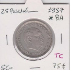 Monedas Franco: 25 PESETAS 1957*BA SC-. Lote 56479072