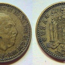 Monedas Franco: FRANCO 1 PESETA 1963*64. Lote 56493664