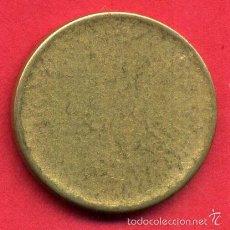 Monedas Franco: MONEDA MODULO 1 PESETA RUBIA SIN ACUÑAR POSIBLE PRUEBA NAVAL LISA COMPLETAMENTE, ORIGINAL A6 ,RB. Lote 270859203