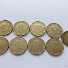Monedas Franco: 1 PESETA 1966. SERIE COMPLETA DE 9 MONEDAS. ESTRELLAS VISIBLES. Lote 56687746