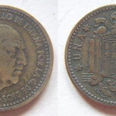 Monedas Franco: FRANCO 1 PESETA DE 1947*52. Lote 56806683