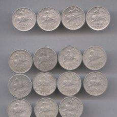Monedas Franco: EXTRAORDINARIO LOTE DE 15 MONEDAS DE 5 CÉNTIMOS DE 1945. Lote 56994364