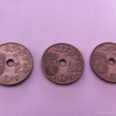 Monedas Franco: 3 MONEDAS 25 CTS 1937 II AÑO TRIUNFAL. Lote 57852157