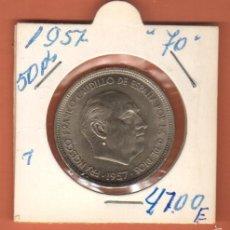 Monedas Franco: BONITA MONEDA 50 PESETAS ESTADO ESPAÑOL 1957 ESTRELLA (70).LEER DESCRIPCION . Lote 57887664