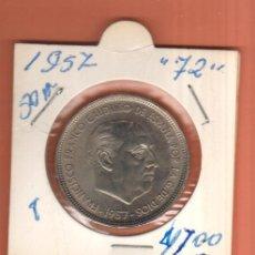 Monedas Franco: BONITA MONEDA 50 PESETAS ESTADO ESPAÑOL 1957 ESTRELLA (72).LEER DESCRIPCION . Lote 57887690
