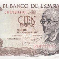 Monedas Franco: CIEN PESETAS. TRES BILLETES DE 100 PESETAS, CON MANUEL DE FALLA, CONSECUTIVOS. BUENA CONSERVACIÓN. . Lote 58275470