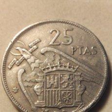 Monedas Franco: MONEDA 25 PESETAS FRANCO 1957 *68 MBC. Lote 145181844