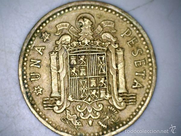 MONEDA 1 PESETA 1966 70* FRANCO CIRCULADA USADA (Numismática - España Modernas y Contemporáneas - Estado Español)