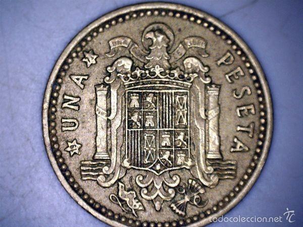 MONEDA 1 PESETA 1966 71* FRANCO CIRCULADA USADA (Numismática - España Modernas y Contemporáneas - Estado Español)