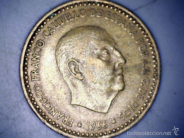Monedas Franco: MONEDA 1 PESETA 1966 71* FRANCO CIRCULADA USADA - Foto 2 - 58231200
